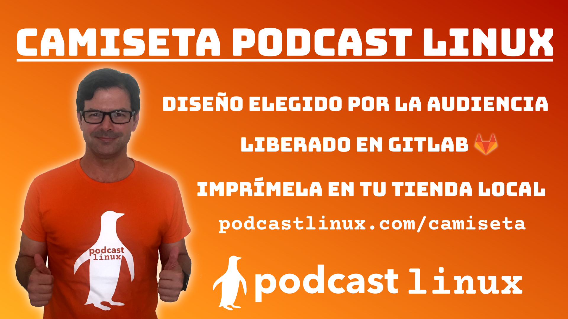 Camiseta Podcast Linux