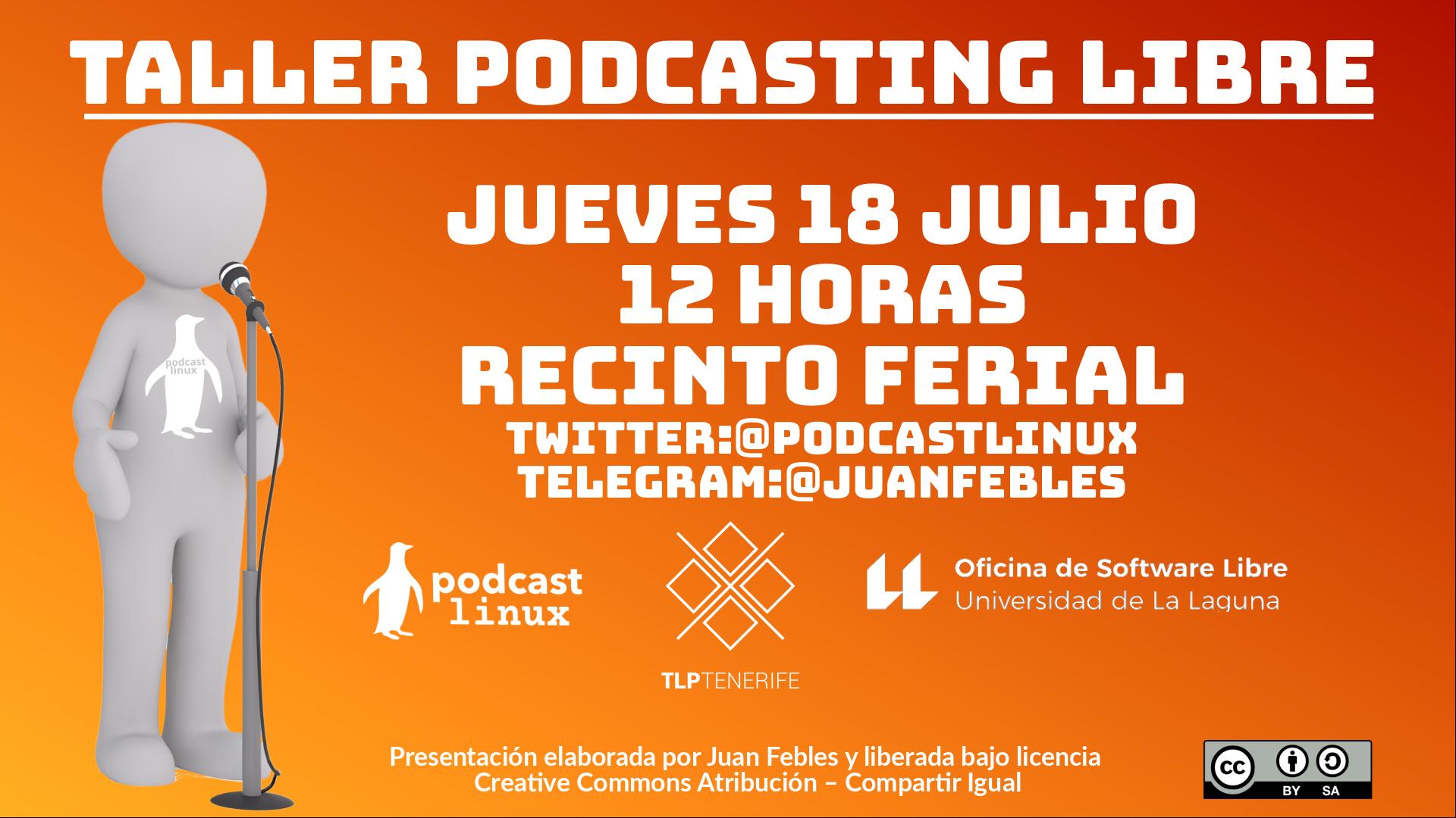 Taller Podcasting Libre 2019